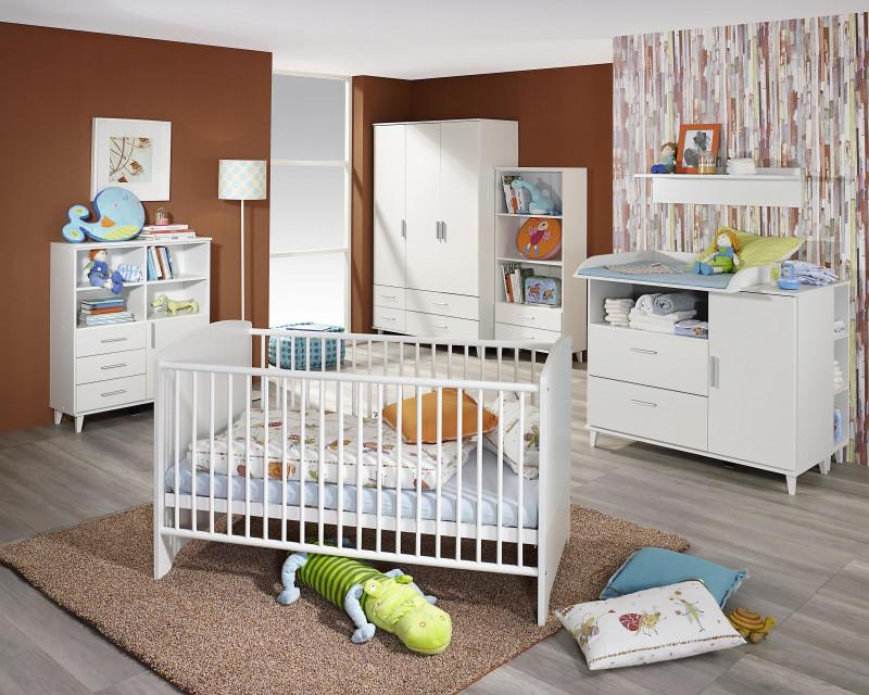 rauch aik baby kinderzimmer set alpinwei dreht kombischrank 127 cm babybett 70x140 cm. Black Bedroom Furniture Sets. Home Design Ideas